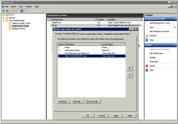 ADFS Mgmt Console