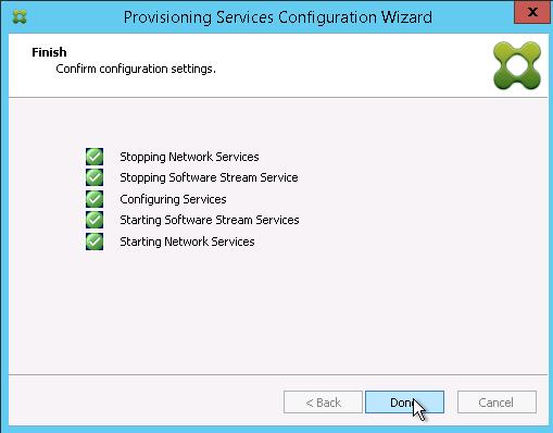 Configuration progress status