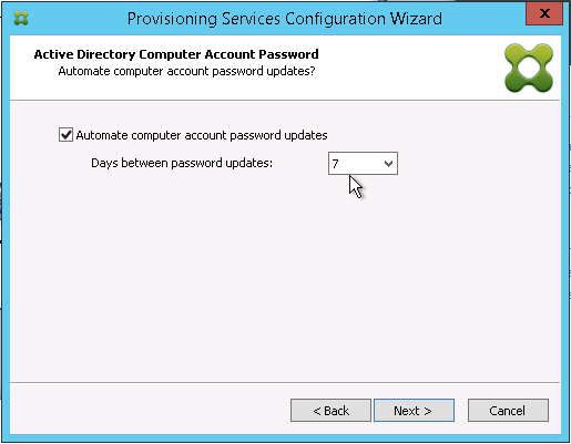 Specify computer account password reset interval